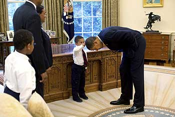 US President Barack Obama at the Oval Office of the White House