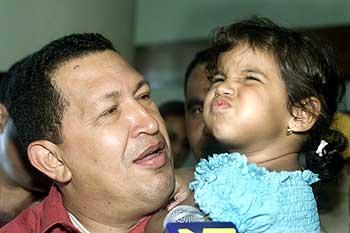 Venezuelan President Hugo Chavez