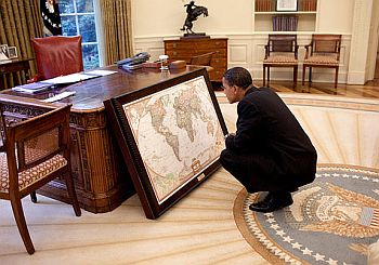 US President Barack Obama at the Oval office
