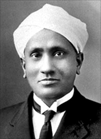 Prof CV Raman, physicist