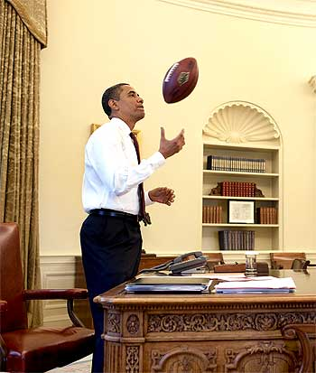 President Barack Obama at the Oval Office