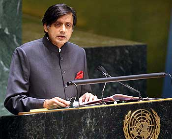 Tharoor addresses the UNGA