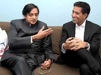 Tharoor with Dr Sanjay Gupta