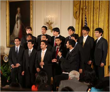 Penn Masala perform in the White House