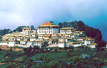 The picturesque Tawang monastery