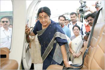 Sushma Swaraj during an election campaign