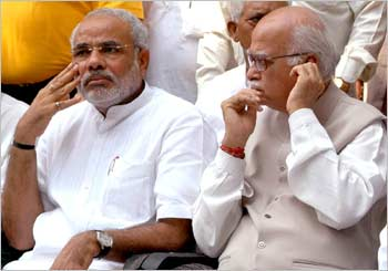 Narendra Modi with L K Advani