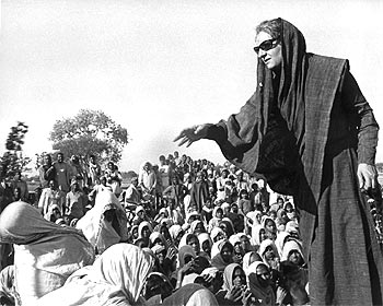 Indira Gandhi at a public rally