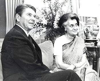 With US President Ronald Reagan