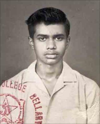 YSR in his college days