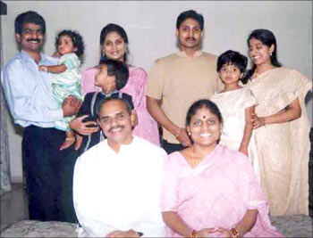 YSR with his family
