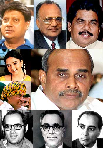 A collage showing some of the public figures who were killed in accidents