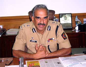Mumbai Police Commissioner D Sivanandan in his office at police headquarters