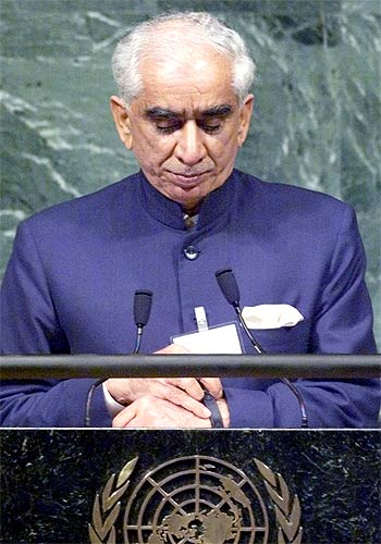 A file photograph of Jaswant Singh at the United Nations General Assembly.