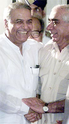 Jaswant Singh with BJP leader Yashwant Sinha