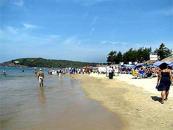 The beautiful Goa beaches attract many tourists