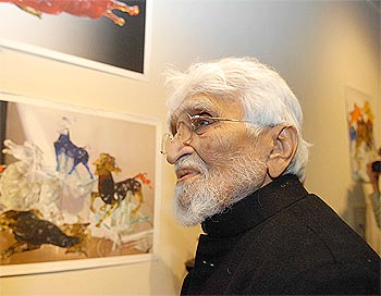 When MF Husain celebrated his birthday in exile