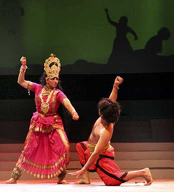 A folk dance rehearsal during Navratri festival in Ahmedabad