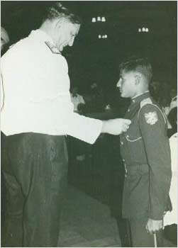 Receiving the best Air Force cadet award at the NDA