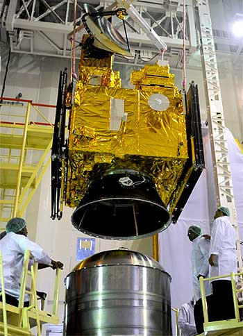 Oceansat-2, the country's 16th remote sensing satellite, one of the seven satellites PSLV carried.