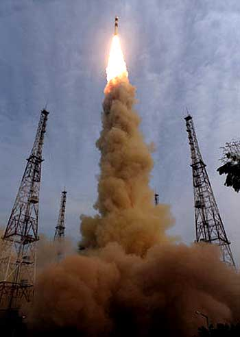 The launch of PSLV-C12