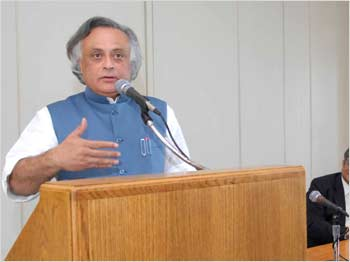 Jairam Ramesh at Columbia University in New York