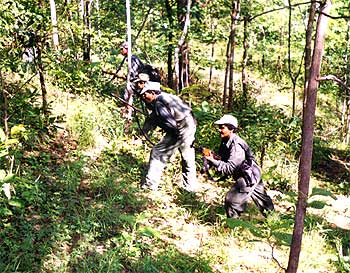 A file photograph shows a Maoist training drill