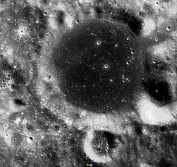 An Image of the Leibniz crater taken by Chandrayaan-1