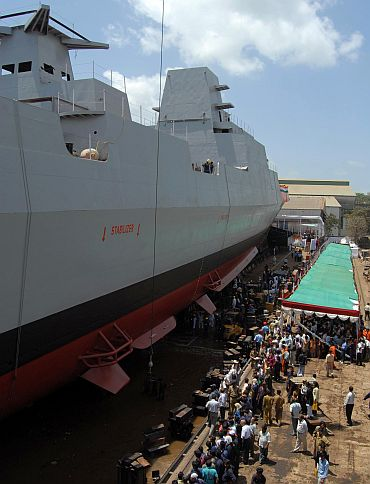 Missile destroyer INS Chennai launched