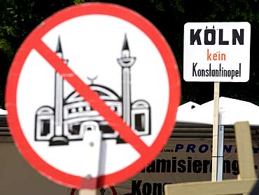 An anti-Islam poster by an ultra far-right wing group in Cologne, Germany
