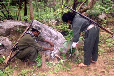 A file photograph of Naxals in the jungles of Chhattisgarh.
