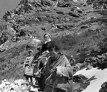 The Dalai Lama escapes from Tibet after the Chinese invasion