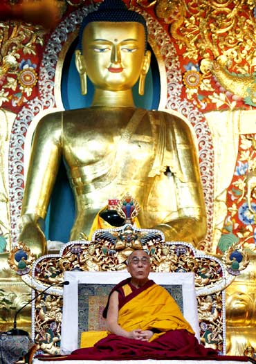 The Dalai Lama offers prayers in Dharamsala