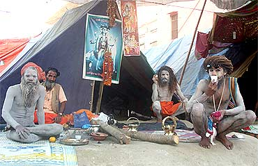 The Naga Sadhus at Kumbh Mela