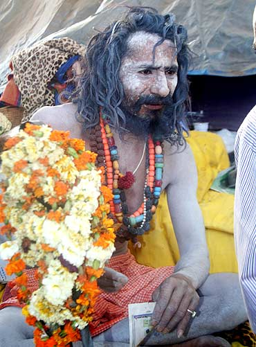 A Naga Sadhu at the Kumbh Mela