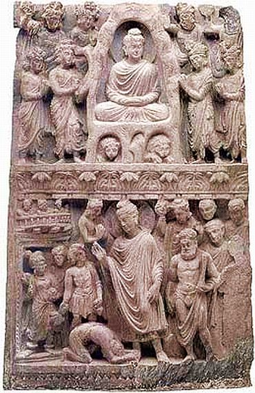 File photo shows a Buddhist relic that was influenced by Greek culture