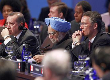 Prime Minister Dr Manmohan Singh at the Nuclear Security Summit