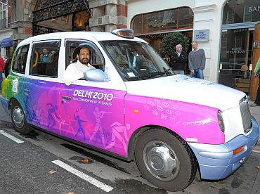 Suresh Kalmadi promoting the Delhi Commonwealth Games in London