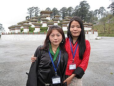 Namkha and Chungku, who escorted the Indian media delegation in Thimphu