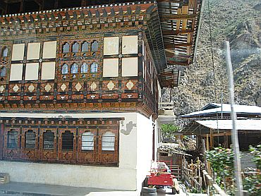 A traditional Bhutanese home