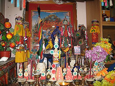 The place of worship in Ugyen's home