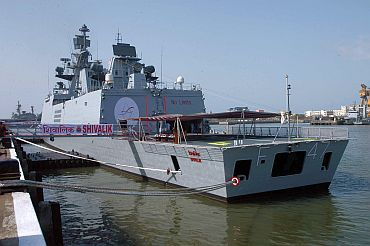 First indian warship with separate living rooms for women crew