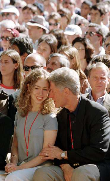 Clinton with Chelsea. A file picure