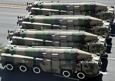 Chinese ICBMs take part in a military parade