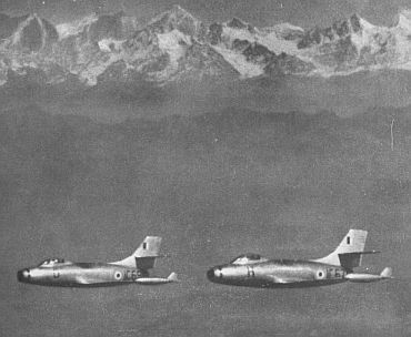 This photograph of two Toofani fighters appeared in the 1957 Air Force Day brochure