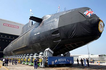 The British nuclear submarine HMS Astute can carry up to 48 nuclear warheads