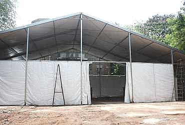 A temporary shed for Malaria patients outside KEM hospital