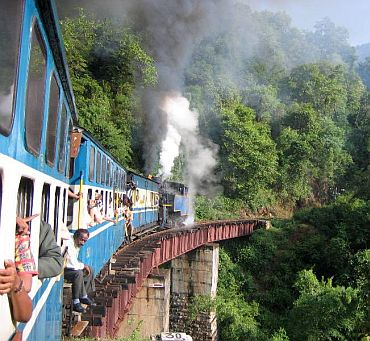 Nilgiri Mountain Railway between Mettupalayam and Ooty