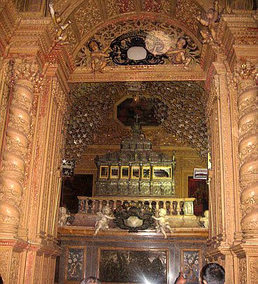 Relics of St Francis Xavier at Church of Bom Jesus in Old Goa