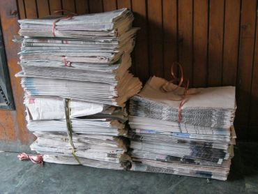 The undelivered stacks of papers outside Hilal Ahmad Khan's agency